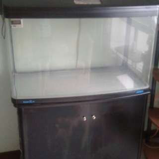 Fish Tank H3feet / D21 inch / L29 inch cabinet same side