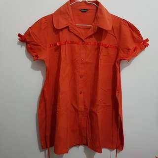 Kemeja Wanita Orange