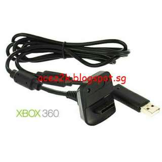 [BN] Xbox 360 Play & Charge Cable For Wireless Controller - 1.8m (Brand New)