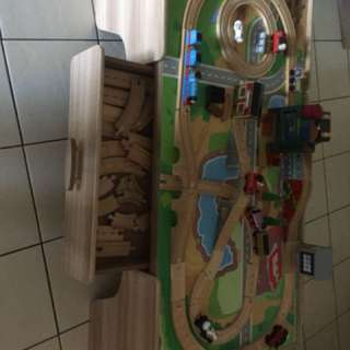 Car n train table with draw