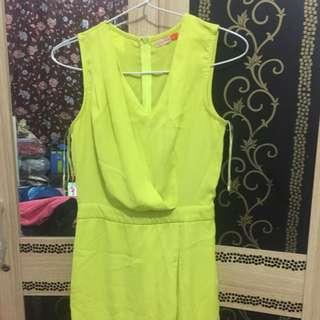 Bongkar lemari!!! Dress hijau stabilo voerin size S