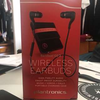 Plantronics BackBeat GO2 Wireless Earbuds