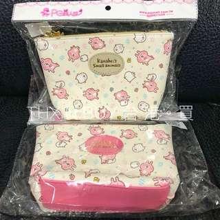 台灣限定PG 美人網Kanahei P助與粉紅兔兔 化妝袋