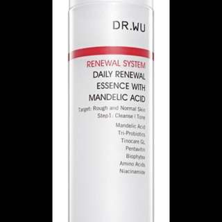 Dr Wu (Renewal System) Daily Renewal Essence with Mandelic Acid BNIB Sealed