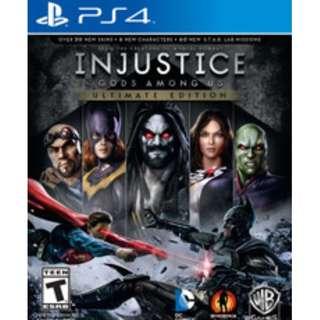 Playstation 4 : Injustice