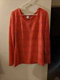 Postie 14 orange long sleeve top