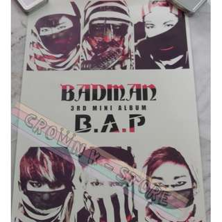 [READY STOCK]BAP B.A.P KOREA OFFICIAL POSTER 1PC SHIP USING TUBE (PRICE NOT INCLUDE POSTAGE)(PLEASE READ DETAILS FOR MORE INFO)
