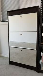 Mirrored Shoes Cabinet