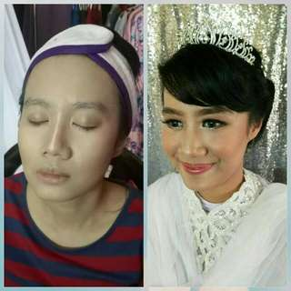 Makeup photoshoot prewedding