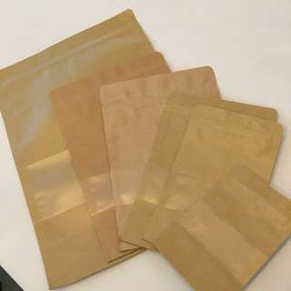 Kraft Paper Bag with Ziplock
