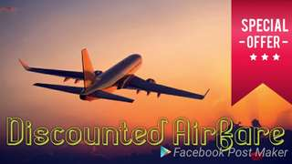 Discounted one way or Round trip Airfare