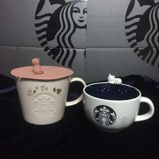 Starbucks Korea autumn Woodland tea mug with cover 355ml