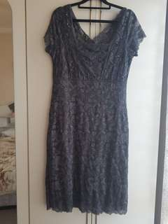 beaded womans dress size 12