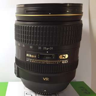 NIKON AF-S NIKKOR 24-120mm f/4G ED VR 公司貨 (not kit lens非拆鏡版, official unit not cheap graymarket unit非平行平輸)