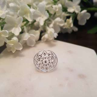 Sterling silver 'Old Past' ring