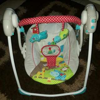(PRICE REDUCED!!!) BRIGHT STARTS PORTABLE SWING