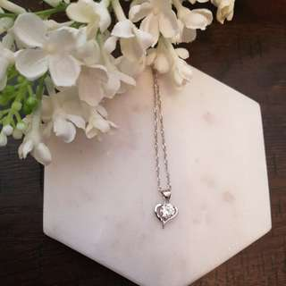Sterling silver 'Heart Beat' necklace