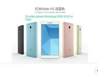 小米 Xiaomi / 紅米Redmi Note 4X Special Blue Edition 4+64G Premium Global Version.