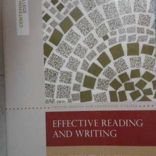 Effective Reading and Writing for Comm 170 and Beyond