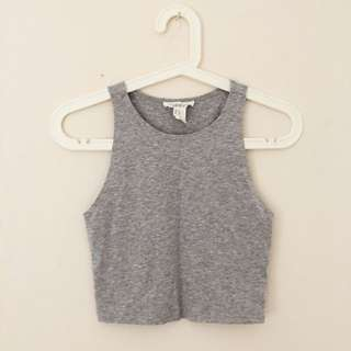 Forever 21 Grey Crop Top