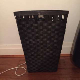 Black Weaved laundry basket