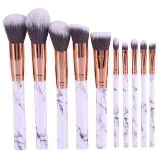 🎉 Marble Makeup Brush Set (10 Piece) w/ FREE POSTAGE