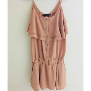 🚚 (sayhi) 全新 原價一千多~ 藕色氣質洋裝 ~洋裝 婚禮 正式場合皆適宜