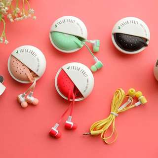 Cute Fruit Candy Colorful Earphones