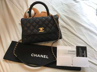 100%Auth Chanel CoCo Handle mini size Caviar gold hardware, Black
