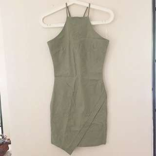 BNWT Olive Halter Neck Bodycon Dress