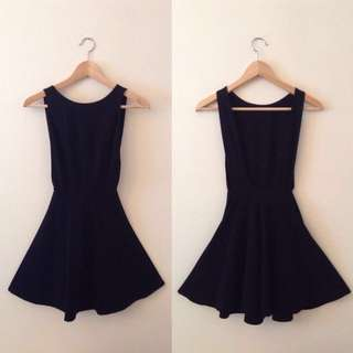 AA Ponte Backless Skater Dress