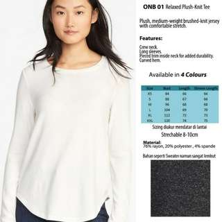 (Avail 4 color) Relaxed Plush - knit Woman Tee