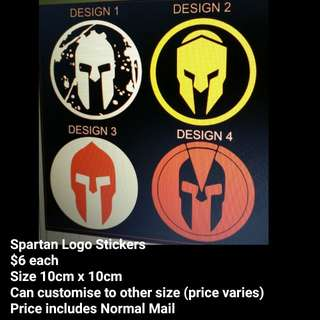 SPARTAN logo stickers