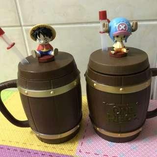 🚚 全新🆘 85度c 限量 航海王 海賊王 魯夫 喬巴 造型霸王杯 造型杯 杯子 收集