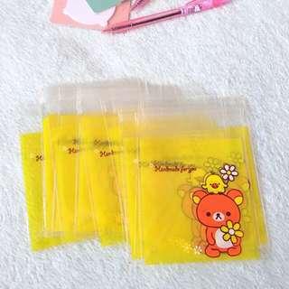 50pcs x 10*10cm+3cm Bear Self Adhesive Cookies Bag