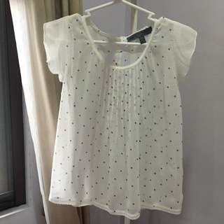 White Top with Polka Dots
