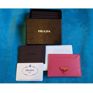 Prada Metal Logo Card Holder in Calf Leather 卡片套 全新未用