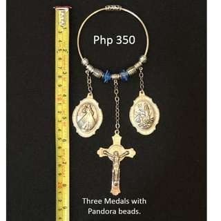 Religious Door Hanger with Pandora Beads