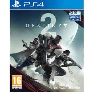 Brand New PS4 Destiny 2