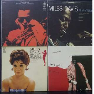 4 Miles Davis Japanese Pressings CDs