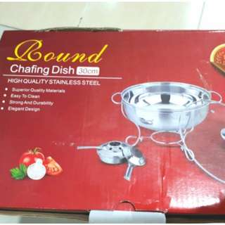 Stainless steel round chafing dish #FEB50