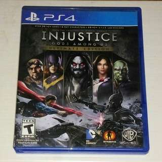 Kaset BD PS4 ORIGINAL Game Injustice God Amoungs