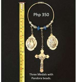 Religious Door Charms with Pandora Beads