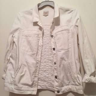 Vintage White MANGO Denim Jacket