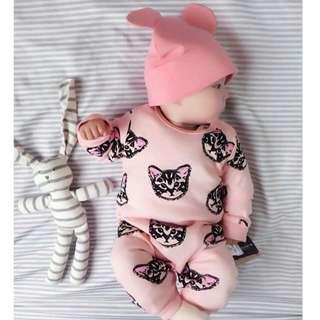 Sleepsuit pink cat 🐈