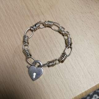 Links of London silver heart bracelet