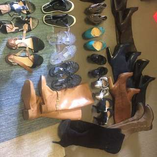 Bulk lot of used shoes Size 6.5-7. Various brands