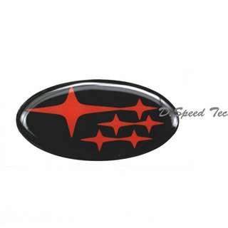 🚚 Subaru斯巴魯 WRX STI 方向盤標 (黑底橘星)