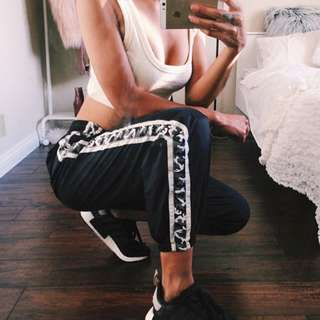 Greyscale Military Camo Stripped Jogger