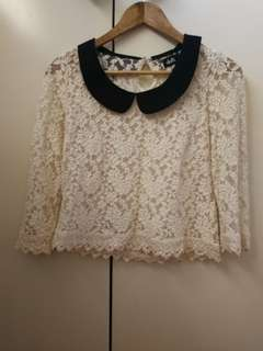 Dotti lace 3/4 sleeve top
